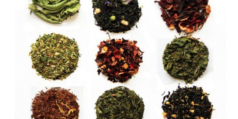 image of nine loose leaf teas
