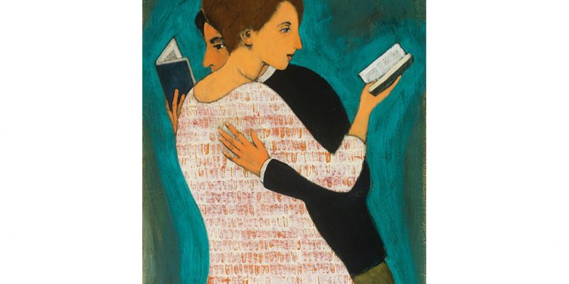 Lovers Reading Brian T. Kershisnik ©2017 Used with Permission