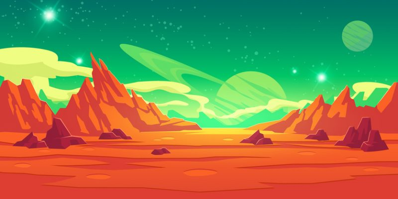 illustration of Mars landscape