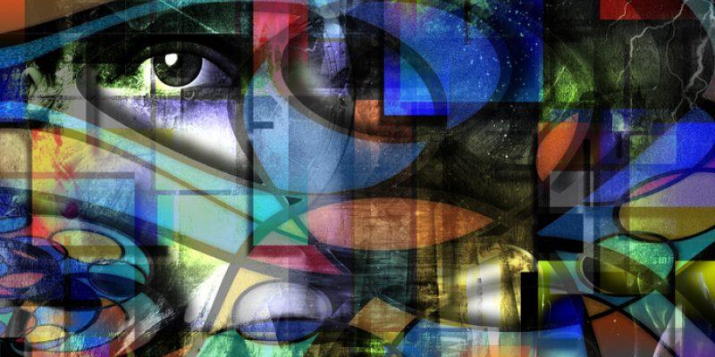Modern abstract art for healing