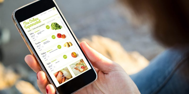 ordering groceries online with an app
