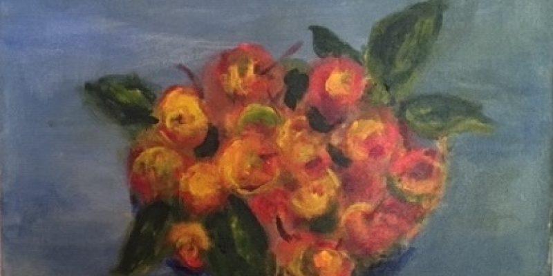 Painting of cherries