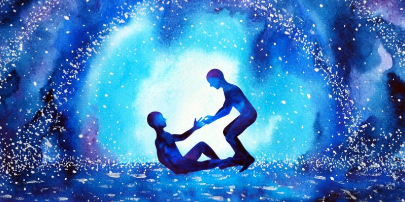 painting of friend helping another up spiritual direction