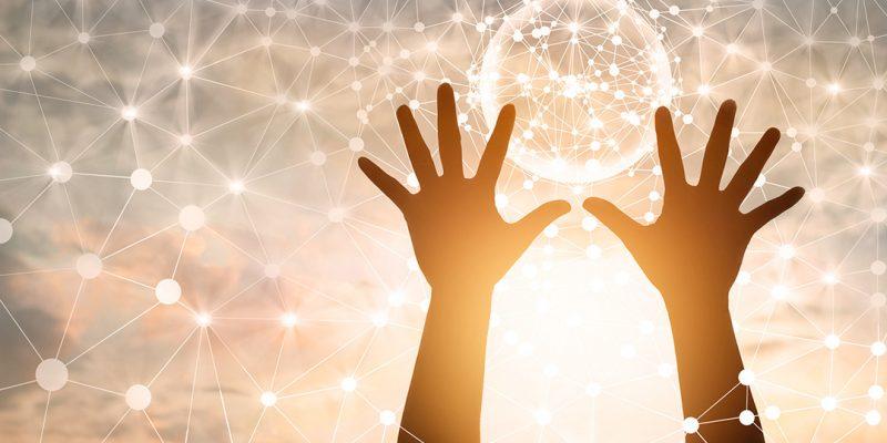 Hands toward sky