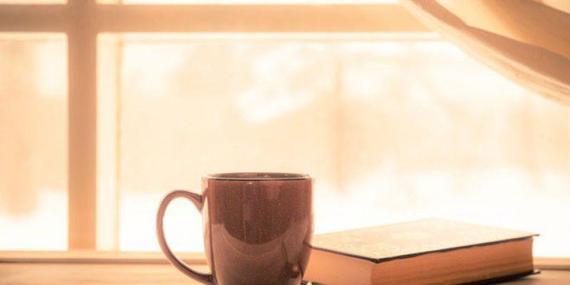 Coffee in window