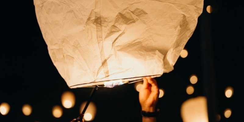 floating paper lanterns for mystical phoenix