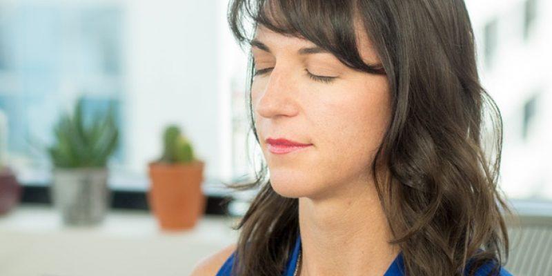 Stacy Conlon in meditation