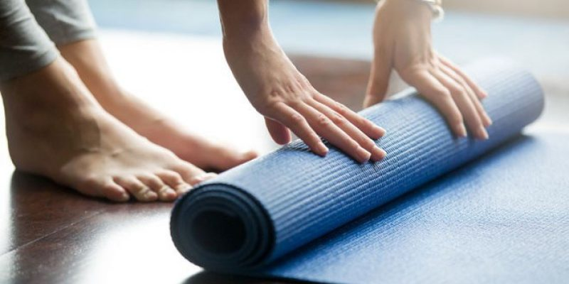 rolling blue mat