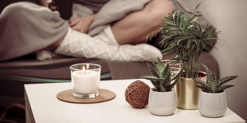 Virtual retreat prep with a candle
