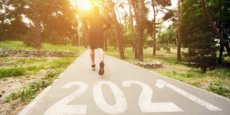 Runner running into 2021 out of 2020