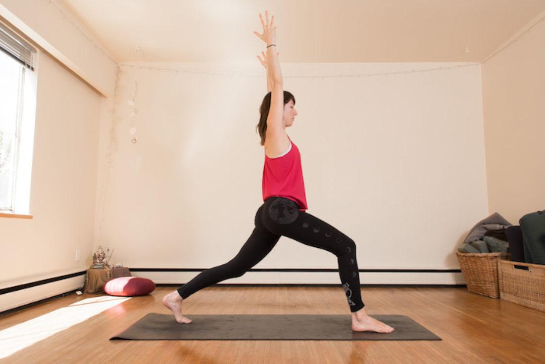 Julie Peters doing yoga