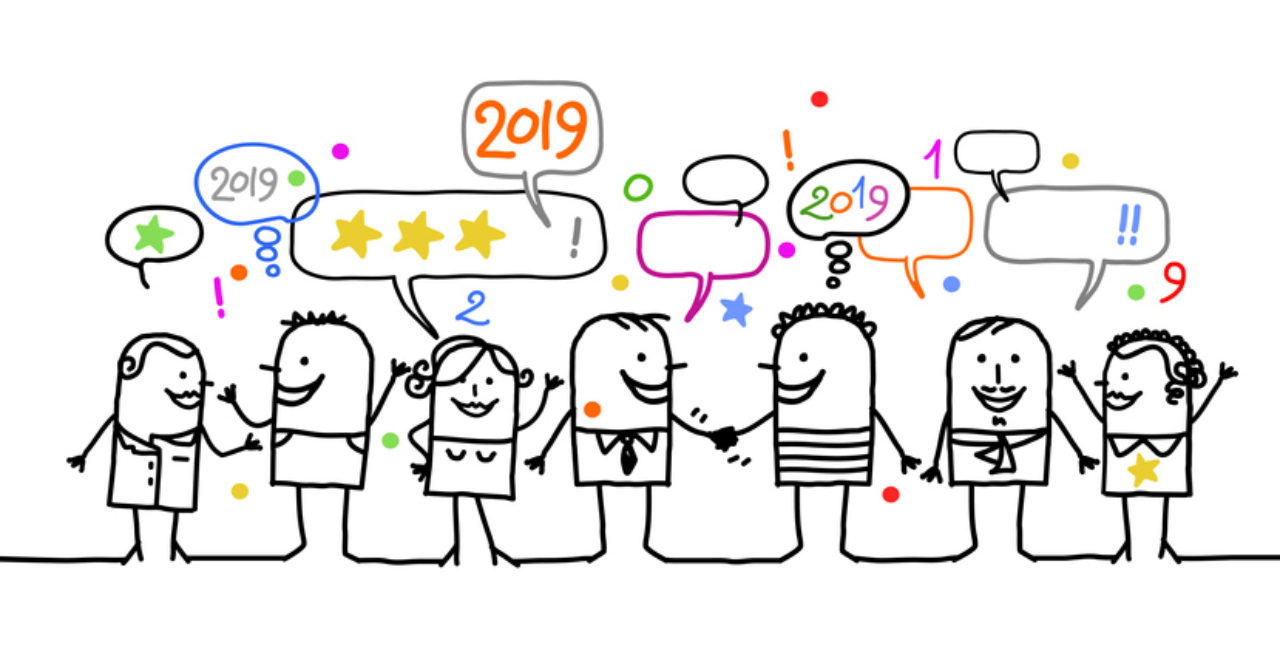 stick figures discussing top Facebook posts of 2019