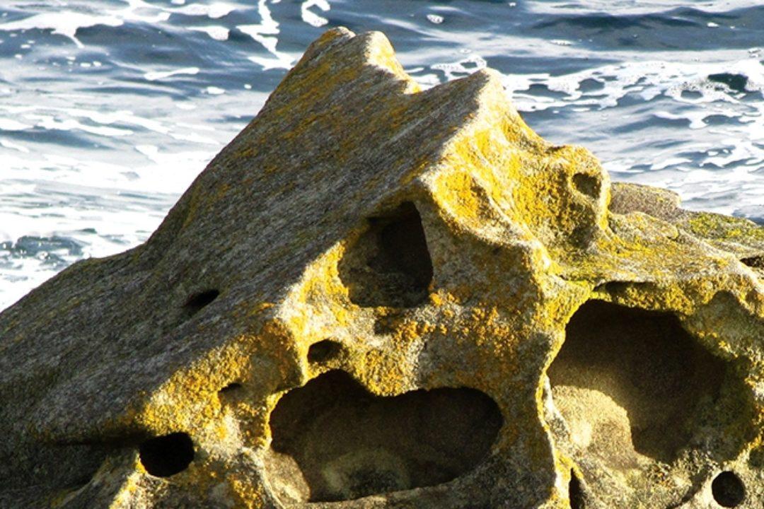 Heart rock on beach
