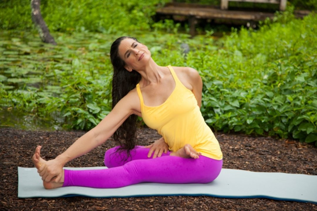 Ana Forest in Seated yoga posture