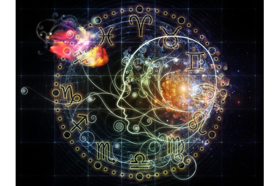 Abstract astrology illustration