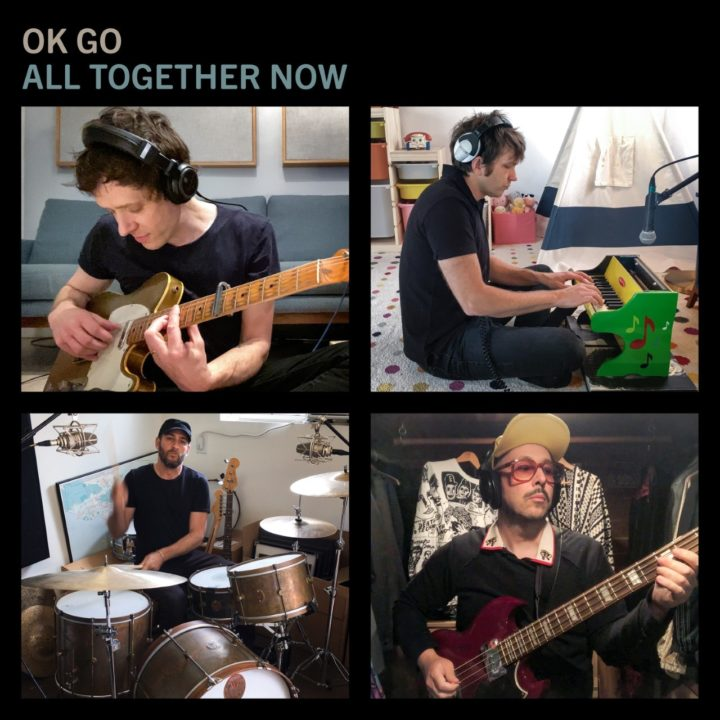 """OK Go band members performing new release """"All Together Now"""""""