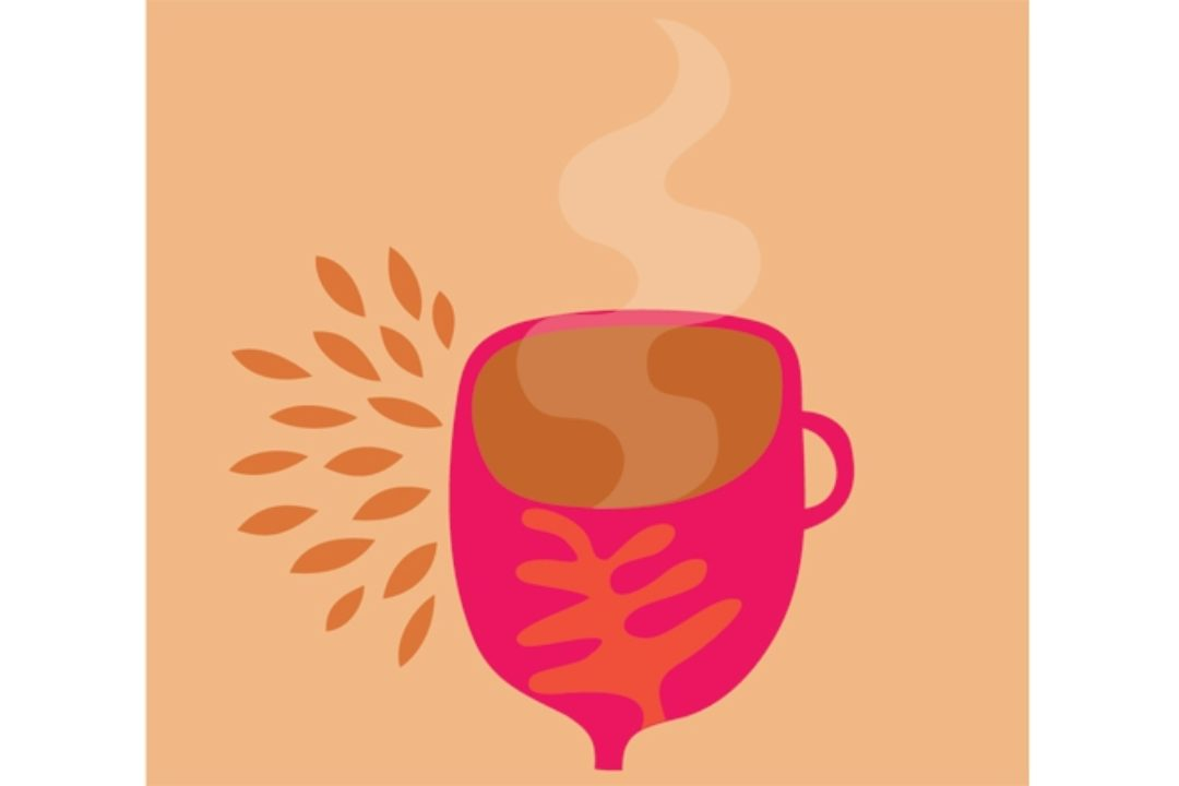 illustration of mayan cup