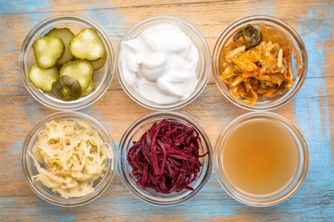Six different fermented foods