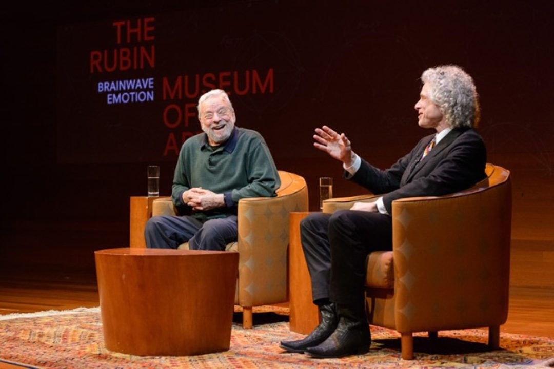Stephen Sondheim and Stephen Pinker talking at the Rubin Museum of Art