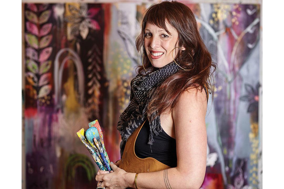 Flora Bowley in her studio
