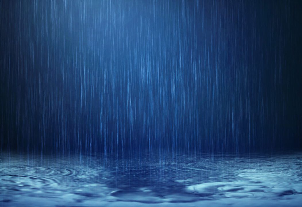 Raindrops act as white noise