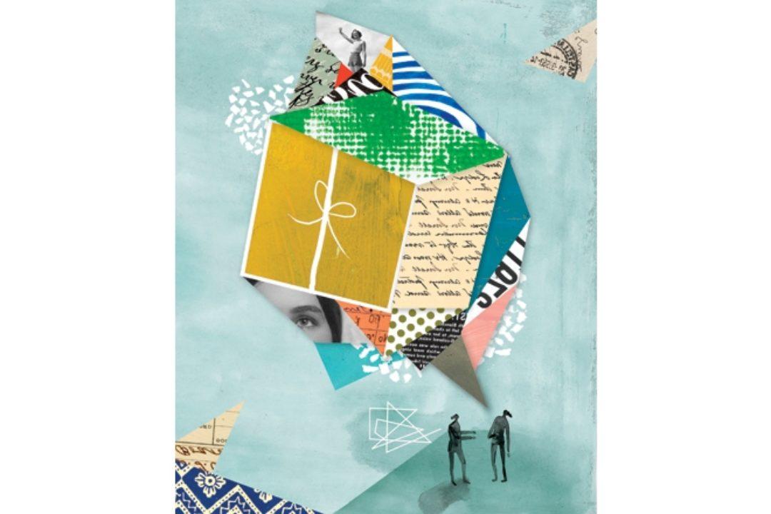 Gift collage illustration