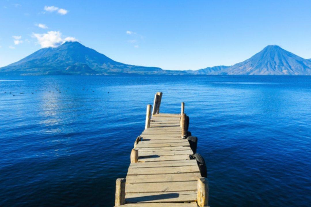 Guatemala's Lake Atitlan and volcanoes