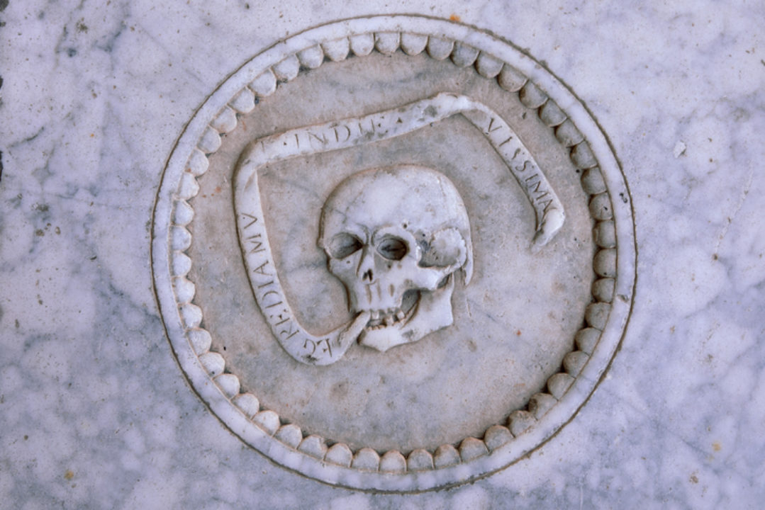 A memento mori reminder of death