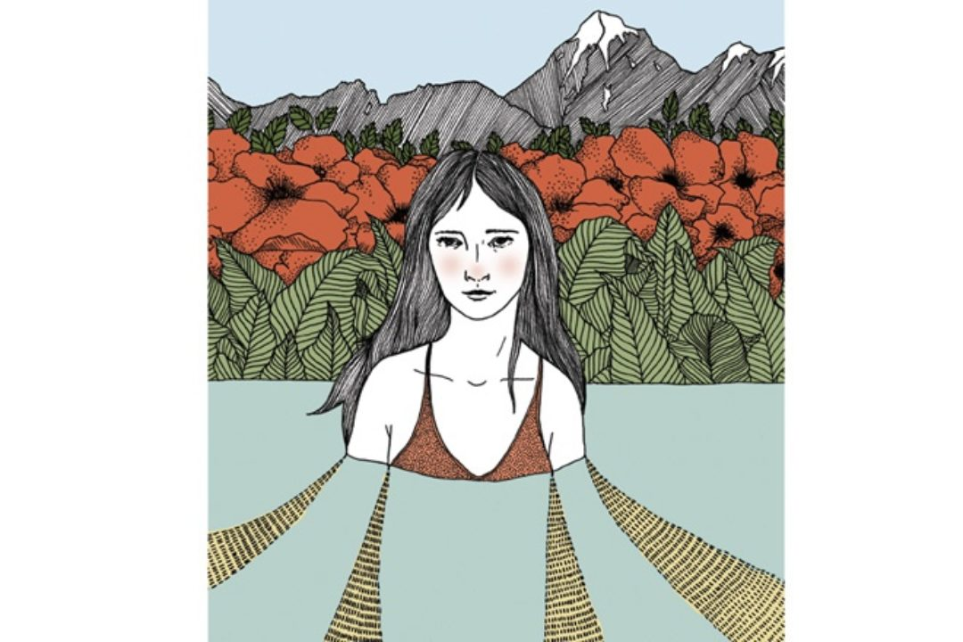 Illustration of woman and nature