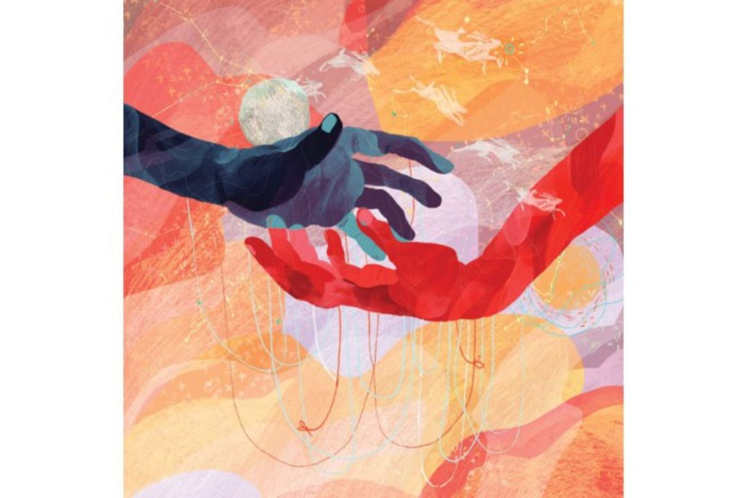 illustration of two hands uniting