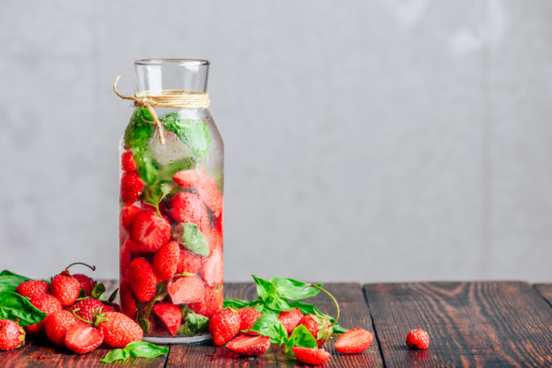 "<img src=""pitcher with strawberries.jpg"" alt=""Bottle of Detox Water Infused with Fresh Strawberry and Basil Leaves""/>"