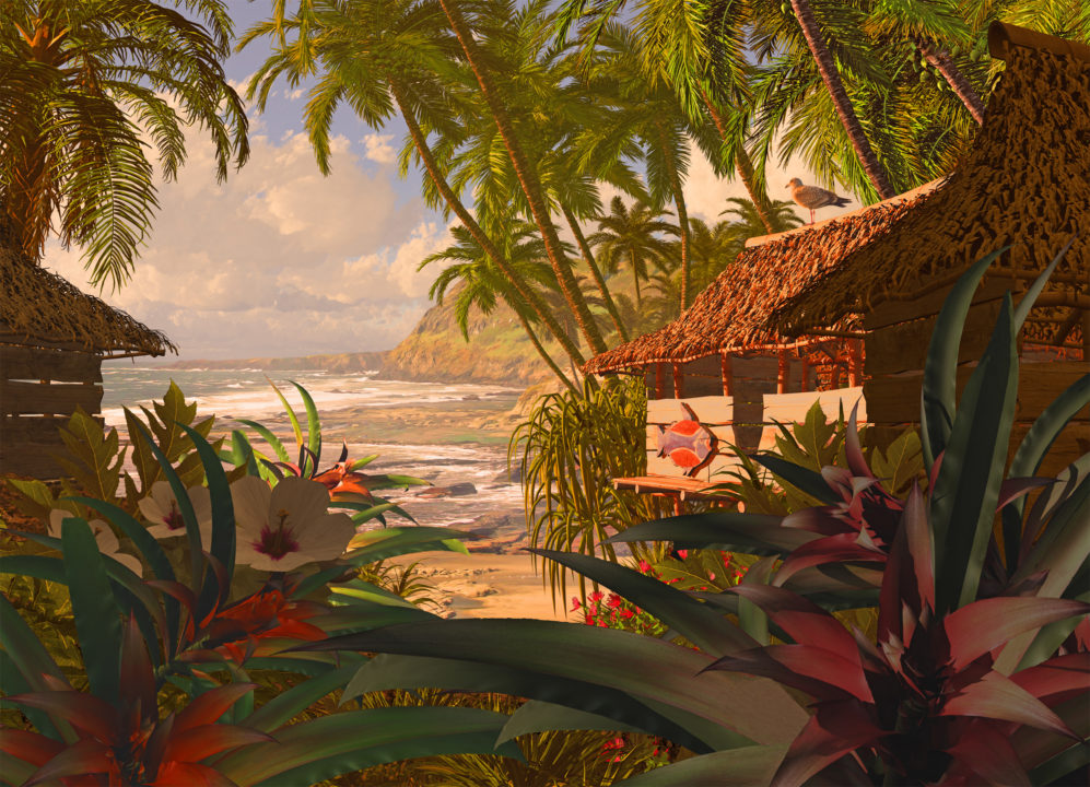 An arousing view from deep within the jungle, encouraging Polynesian sex