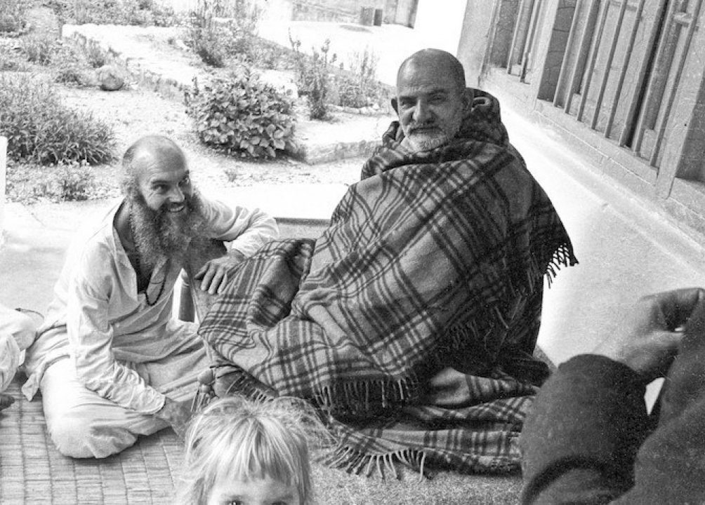 Ram Dass with his spiritual teacher, Maharaj-ji