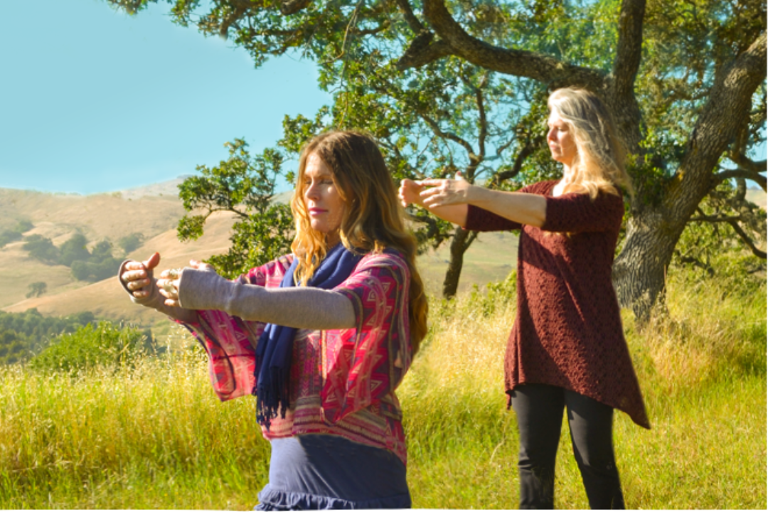 women practicing qigong