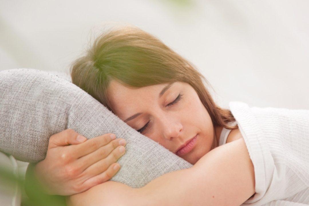 Woman sleeping peacefully