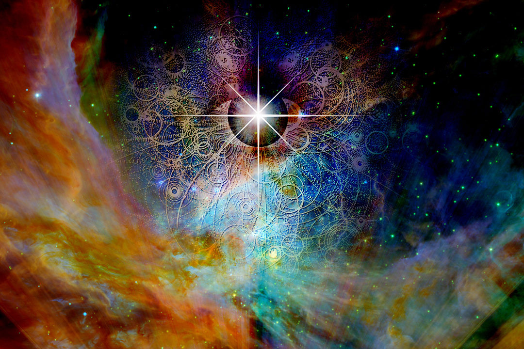 Abstract image of cosmos and eye