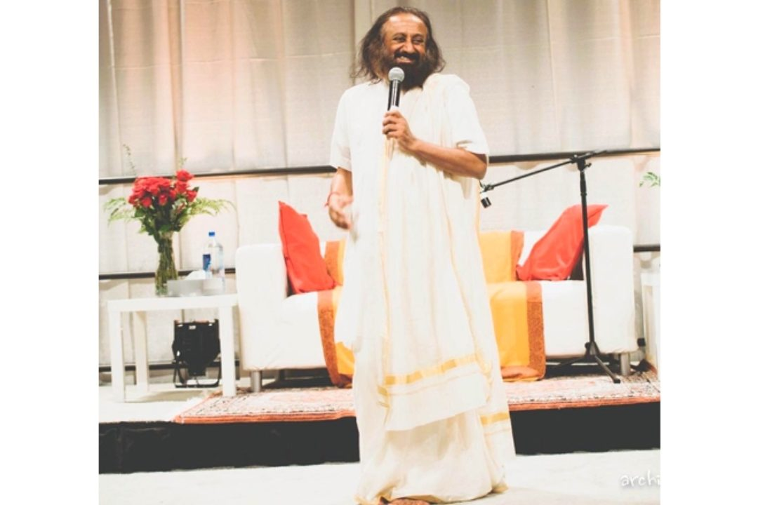 His Holiness Sri Sri Ravi Shankar at Get Happy Portland