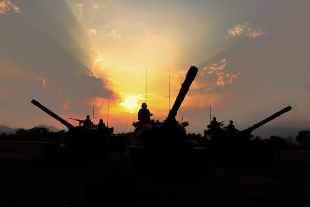 Tanks at sunrise