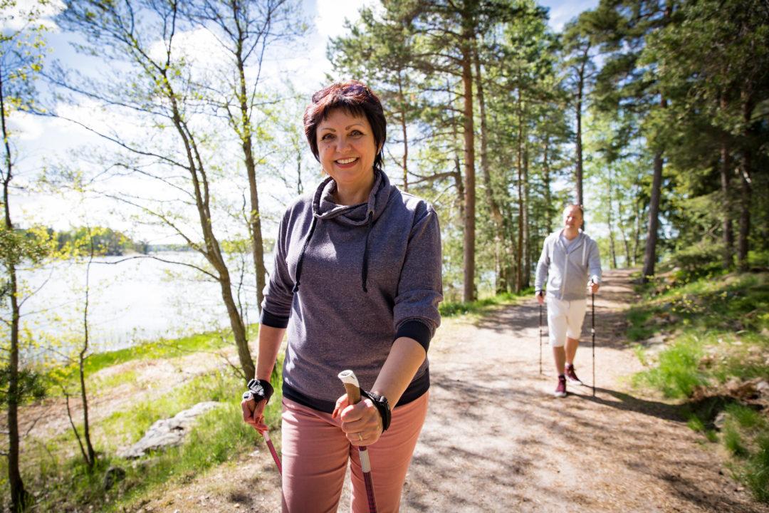Woman exercising outsite
