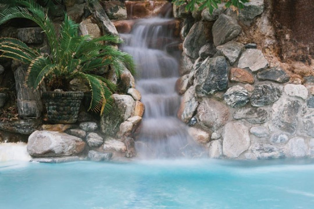 waterfall at Two Bunch Palms