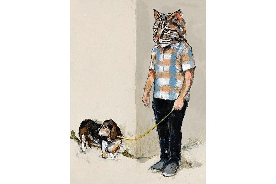 Walking Professor Woof Woof by Michael McConnell