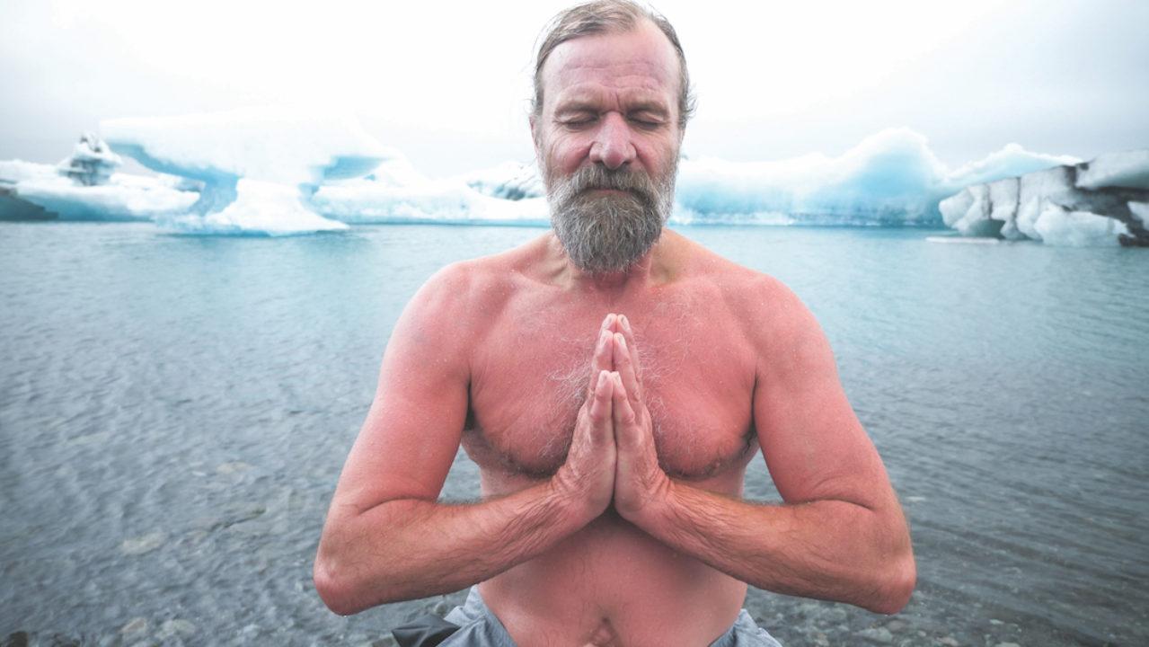 Wim Hof in Iceland