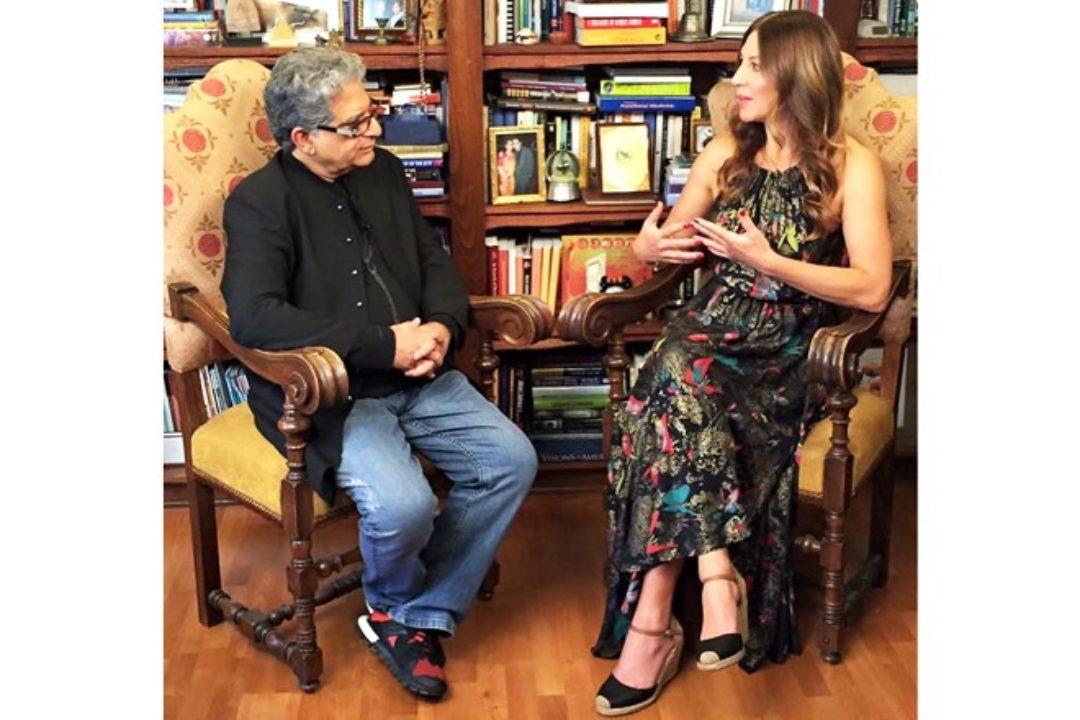 Suzanne Bryant and Deepak Chopra in conversation