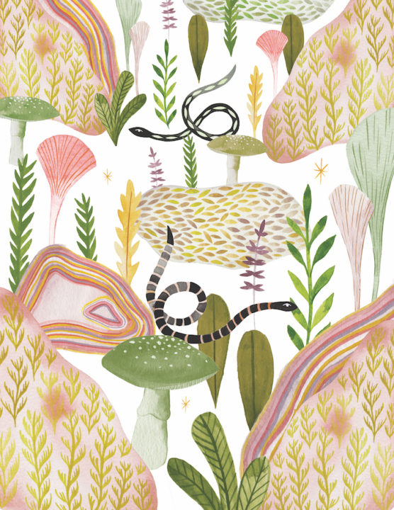"Estée Preda's painting ""Botanical Garden"""
