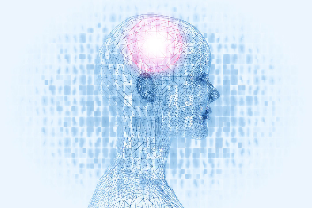 Graphic of light in brain training