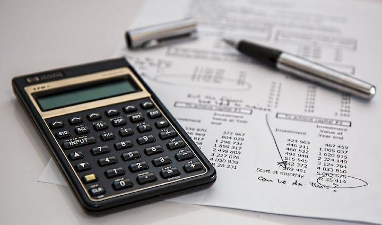 calculator and financial papers