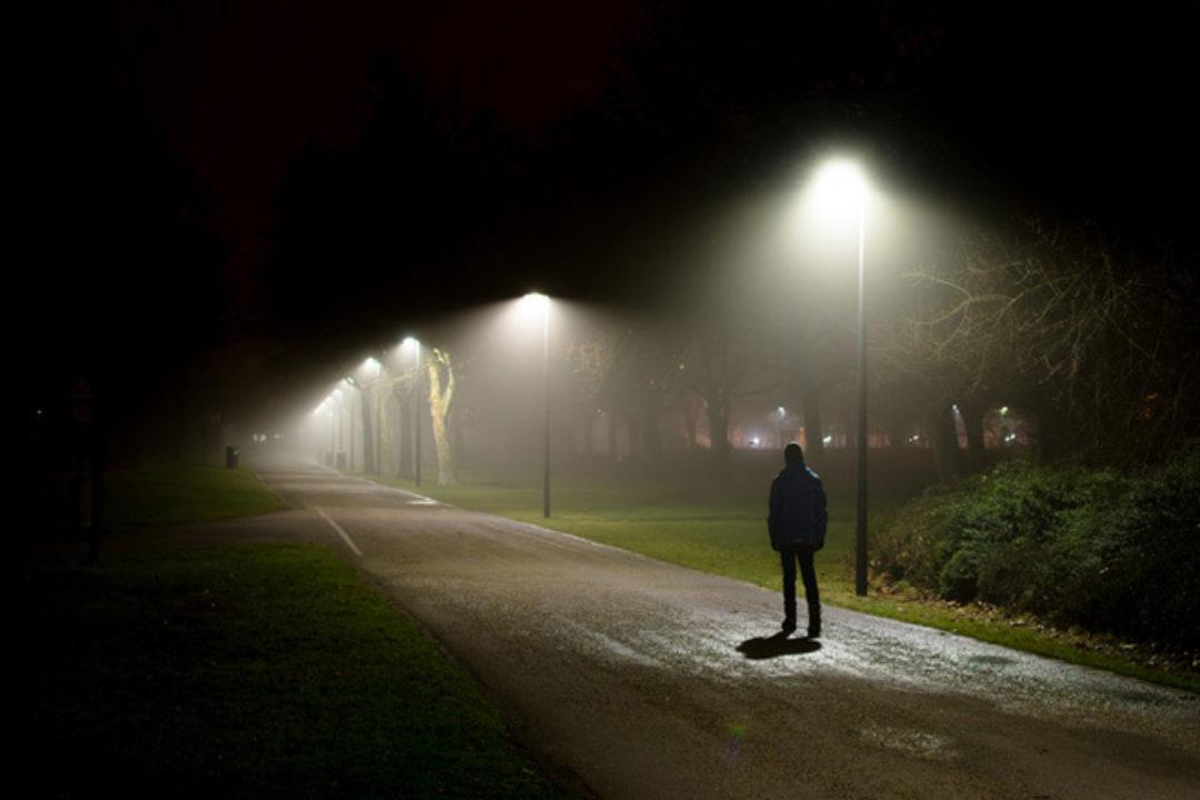 man in dark