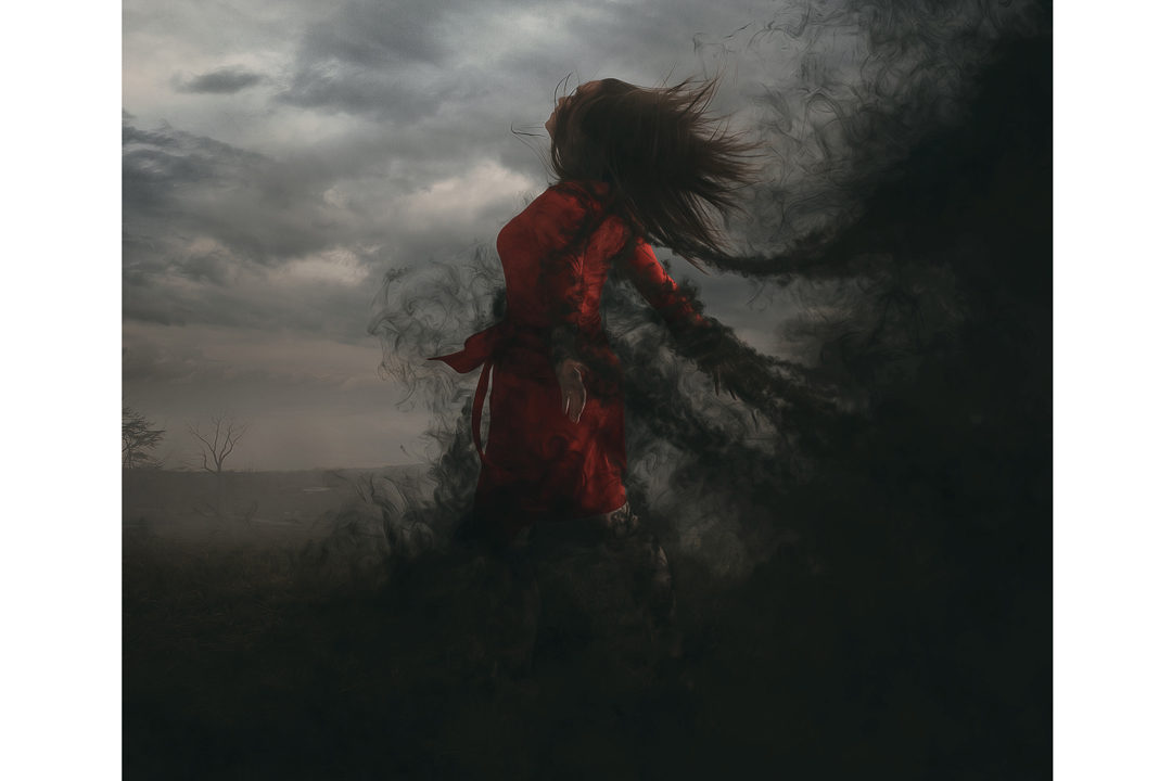 Woman trapped in darkness