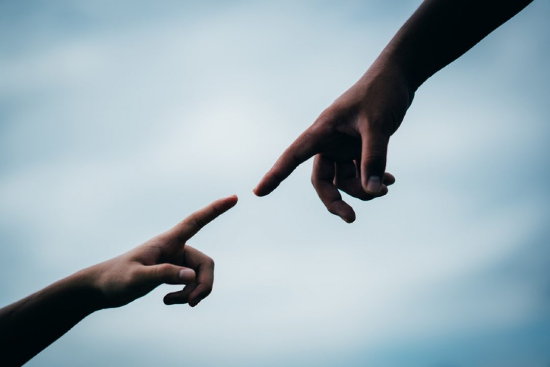 hands reaching destiny and signs of god