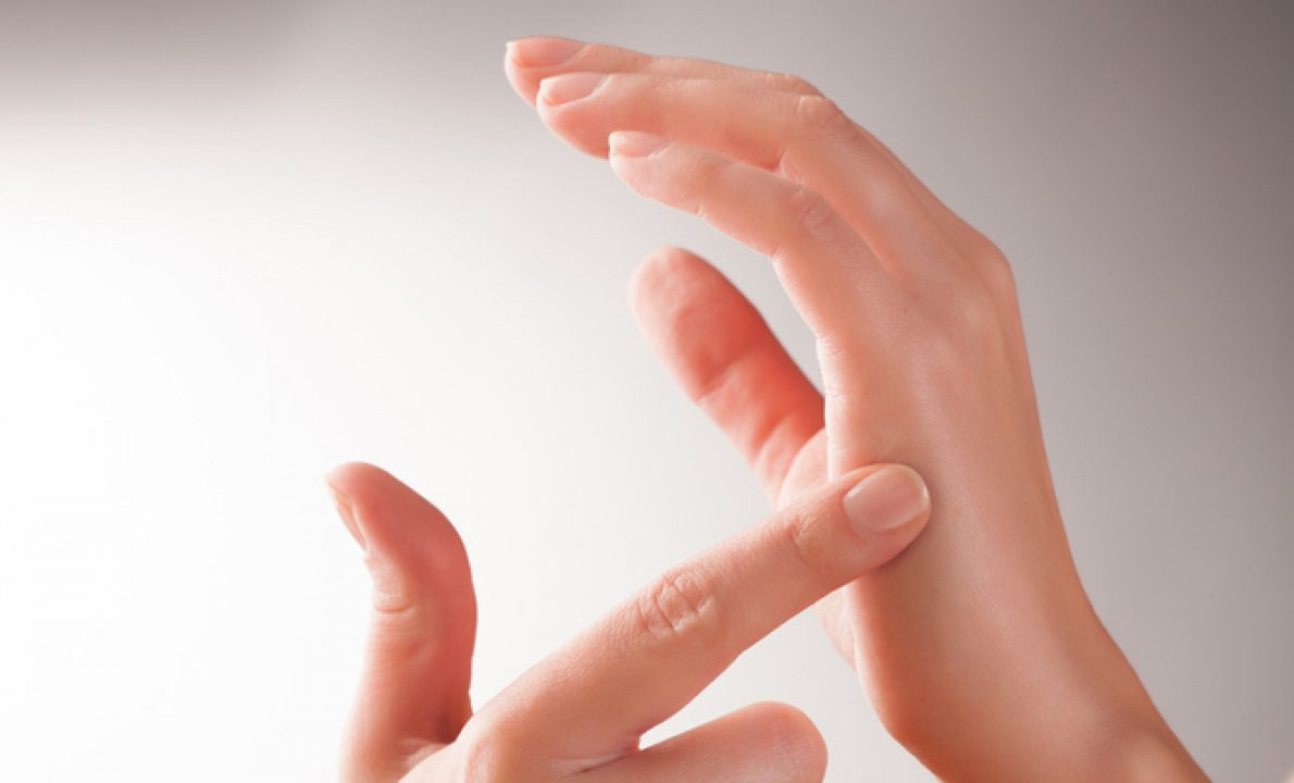 Eft tapping therapy on hands